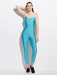 Femme simple Actif Taille Normale Sports Décontracté / Quotidien Combinaison-pantalon,Slim Dos Nu Rayure Toutes les Saisons