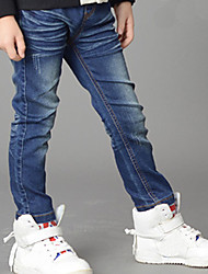 Boys' Stylish And Cool Comfortable Cotton Embroidered With Cartoon  Washing Leisure Denim Trousers