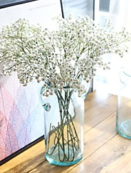 cheap -25inch Large Size 5 Branch Silk Polyester Baby Breath Tabletop Flower Artificial Flowers