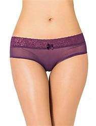 Women's Sexy Lace Underwear Ultra-thin Briefs Low Waist Perspective Nightwear Panties Plus Size M-3XL