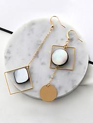 cheap -Women's Drop Earrings Mismatch Fashion Euramerican Alloy Square Geometric Jewelry For Party