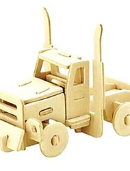 cheap -3D Puzzles Jigsaw Puzzle Wood Model Model Building Kit Car 3D Animals DIY Wood Natural Wood Unisex Gift