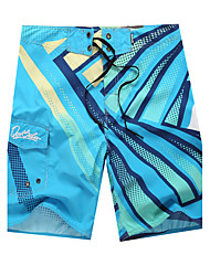 cheap -Men's Sporty Bottoms - Geometric Print Board Shorts