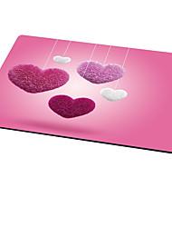 tapis de souris en forme de coeur mignon style tissu en caoutchouc 21cm * 26cm * 0.3cm