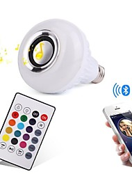 economico -12W E27 Lampadine LED smart 28 LED SMD Bluetooth Oscurabile Controllo a distanza Decorativo Colori primari 1000lm 3000/6000K AC100-240V
