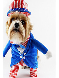 cheap -Dog Costume Dog Clothes Halloween Fun & Whimsical Party Cosplay Stripe Green Blue Costume For Pets