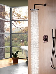cheap -Shower Faucet - Contemporary Simple Modern Style Oil-rubbed Bronze Wall Mounted Ceramic Valve
