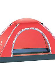 baratos -4 pessoas Acessórios de Tenda Único Barraca de acampamento Ao ar livre Tenda Dobrada Prova-de-Água / Á Prova-de-Chuva / A Prova de Vento