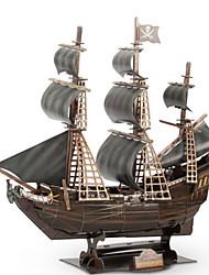 baratos -Quebra-Cabeças 3D Quebra-Cabeça Barco de Guerra Navio Madeira Natural Unisexo Dom