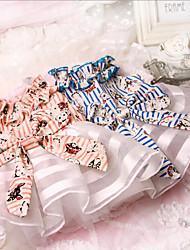 baratos -Cachorro Vestidos Roupas para Cães Casual Princesa Laranja Azul Ocasiões Especiais Para animais de estimação