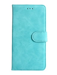 cheap -For Huawei P8lite 2017 Case Cover Card Holder Wallet with Stand Full Body Case Solid Color Hard Genuine Leather for P10lite/P10/P9