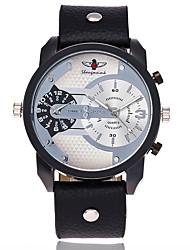 XU Men's Luxurious Elegant Quartz Leather Belt Double Movement Big Dial Sports Leisure Watch