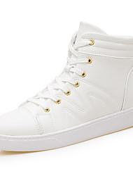 Da uomo Sneaker Comoda Autunno Inverno Finta pelle Casual Lacci Piatto Bianco Nero Piatto