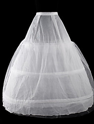 Skirt Classic/Traditional Lolita Cosplay Lolita Dress White Solid Lolita Floor-length Dress/ Petticoat For Women Organza