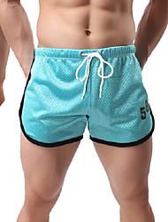 Shorts de Corrida Fitness, Corrida e Yoga para Exercício e Atividade Física Corrida Branco Preto Azul Céu Vermelho Azul M L XXL XXXL