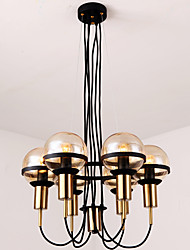 abordables -6 lumières Lustre Lumière dirigée vers le haut - Style mini, 200-240V / 110-120V Ampoule non incluse / 10-15㎡ / E26 / E27