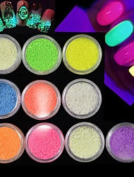 cheap -10Bottles/Set Hot Fashion Lovely Candy Colors Glitter Sand Powder Fluorescence Effect Powder Glow In Dark Nail Beauty DIY Sparkling Decoration A1-10