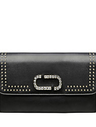 cheap -Women Bags PU Evening Bag Rhinestone Rivet Chain for Wedding Event/Party Casual Sports Formal Outdoor Office & Career All Seasons Black