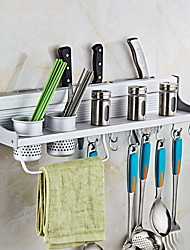Free Punch Kitchen Shelf Pendant Space Aluminum Tool Holder Multi-function Storage Rack