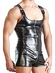Men's Matching Bralettes Nightwear Solid-Medium PU