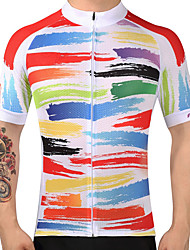 cheap -FUALRNY® Men's Short Sleeve Cycling Jersey Bike Jersey, Quick Dry