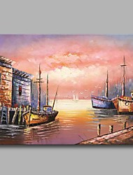 cheap -Under The Sunset on The Way Back 100% Hand Painted Contemporary Oil Paintings Modern Artwork Wall Art for Room Decoration