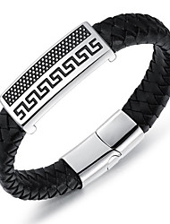 cheap -Men's Bracelet - Personalized / Simple Style / Fashion Circle / Geometric Black Bracelet For Birthday / Gift / Daily / Men's