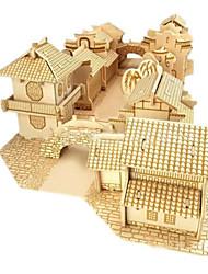 DIY KIT 3D Puzzles Jigsaw Puzzle Toys Famous buildings House Architecture 3D Unisex Boys Pieces