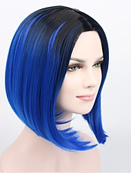 Ombre Color Wig Synthetic Hair Short Wig for Women Short Bob Wig Ombre Blue Hair Heat Resistant Cheap Bob Wig