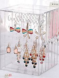 Transparent Acrylic Earring Storage Box Dustproof Jewelry Box