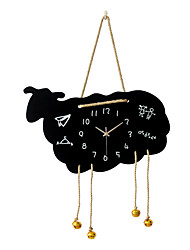 Modern Creative Cute cartoon Wood Mute Wall Clock Wall Clocks