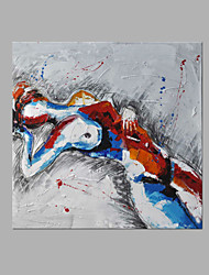 cheap -Oil Painting Hand Painted - People Artistic Canvas