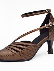 cheap -Women's Modern Leatherette Sandal Sneaker Professional Stiletto Heel Black Coffee Customizable