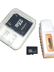 abordables -Carte mémoire 8gb microsdhc tf avec lecteur de carte usb et adaptateur sdhc sd