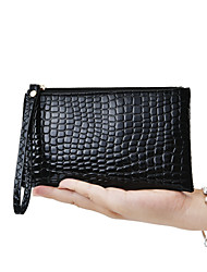 cheap -Women's Bags PU Checkbook Wallet for Wedding Event/Party Daily Casual All Seasons Black