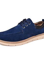 Da uomo Sneakers Suole leggere Cashmere Primavera Autunno Casual Lacci Piatto Nero Blu Cachi 5 - 7 cm