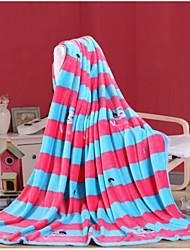 Недорогие -Супер мягкий Полоски Полиэфир одеяла