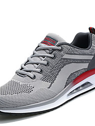 cheap -Men's Shoes Breathable Mesh PU Spring Fall Comfort Light Soles Athletic Shoes Lace-up For Athletic Casual Gray Red Black/Red