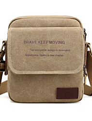 cheap -Men's Bags Canvas Crossbody Bag for Casual Gray / Coffee / Brown