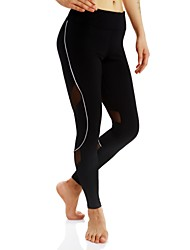 Women's Running Tights Gym Leggings Quick Dry Bottoms for Exercise & Fitness Camping Running Polyester Slim S M L XL