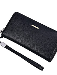cheap -Men Bags PU Checkbook Wallet for Office / Career Shopping Formal All Seasons Black Coffee Dark Coffee