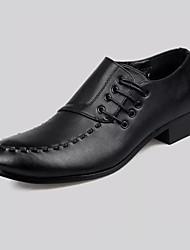 Herren Schuhe PU Frühling Sommer Komfort formale Schuhe Outdoor Schnürsenkel Für Party & Festivität Schwarz