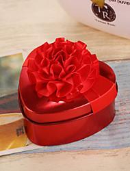 10 Фавор держатель-В форме сердца Нетканое полотно Никелированный металл Коробочки Горшки и банки для конфет
