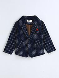 Boys' Polka Dot Suit & Blazer,Cotton Spring Fall Long Sleeve