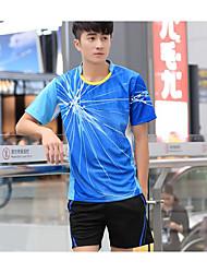 abordables -Homme / Femme Manches Courtes Yoga / Sport de détente / Basket-ball Shirt / Tee-shirt / Hauts / Top Fitness, course et yoga