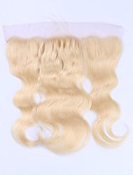 Beata Hair Brazilian Remy Human Hair 613 Blonde Lace Frontal Closure Pre Plucked Body Wave 13x4 Transparent Lace With Baby Hair