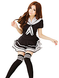 cheap -Student / School Uniform Cosplay Costume Party Costume Female Halloween Carnival Festival / Holiday Halloween Costumes Patchwork