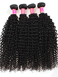 cheap -6A Brazilian Deep Wave Virgin Hair 4Bundles Brazilian Deep Curly Virgin Hair Bundles Deep Wave Hair Extensions