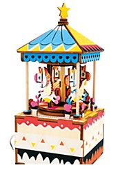 cheap -Music Box Jigsaw Puzzle Toys Horse Carousel Wood Pieces Unisex Gift