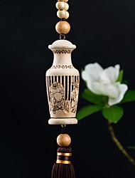 Diy automotriz colgantes taobao moda creativa perfume ornamento de madera elevación coche colgante&Adornos flor de melocotón madera